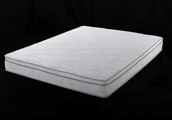 Home Life Euro Top Harmony Sleep 8 Inch Pocket Spring Luxury Mattress Green Foam Certified Full