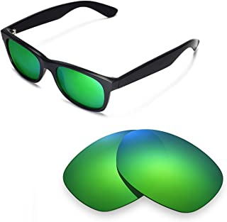 Walleva Replacement Lenses for Ray-Ban Wayfarer RB2132 52mm Sunglasses - Multiple Options