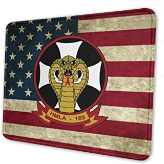 Gaming Mouse Pad 1st Marine Division Marine Light Attack Helicopter Squadron Non-Slip Rubber Base Mouse Pad