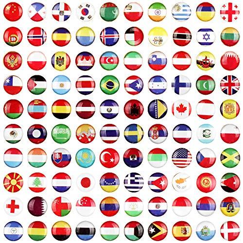 100 Stücke Reißzwecken Push Pins National Flagge Kreative Stecknadeln Kreative Push Pins National Flagge Pinnadeln Stecknadeln Map für die Pinnwand