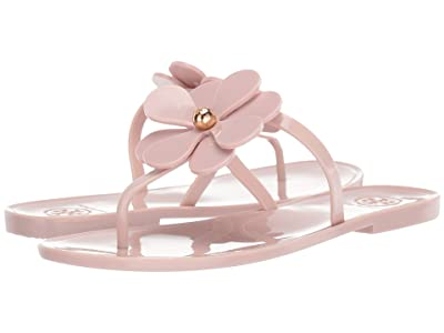 Tory Burch Flower Jelly Thong (Pale Petal) Women