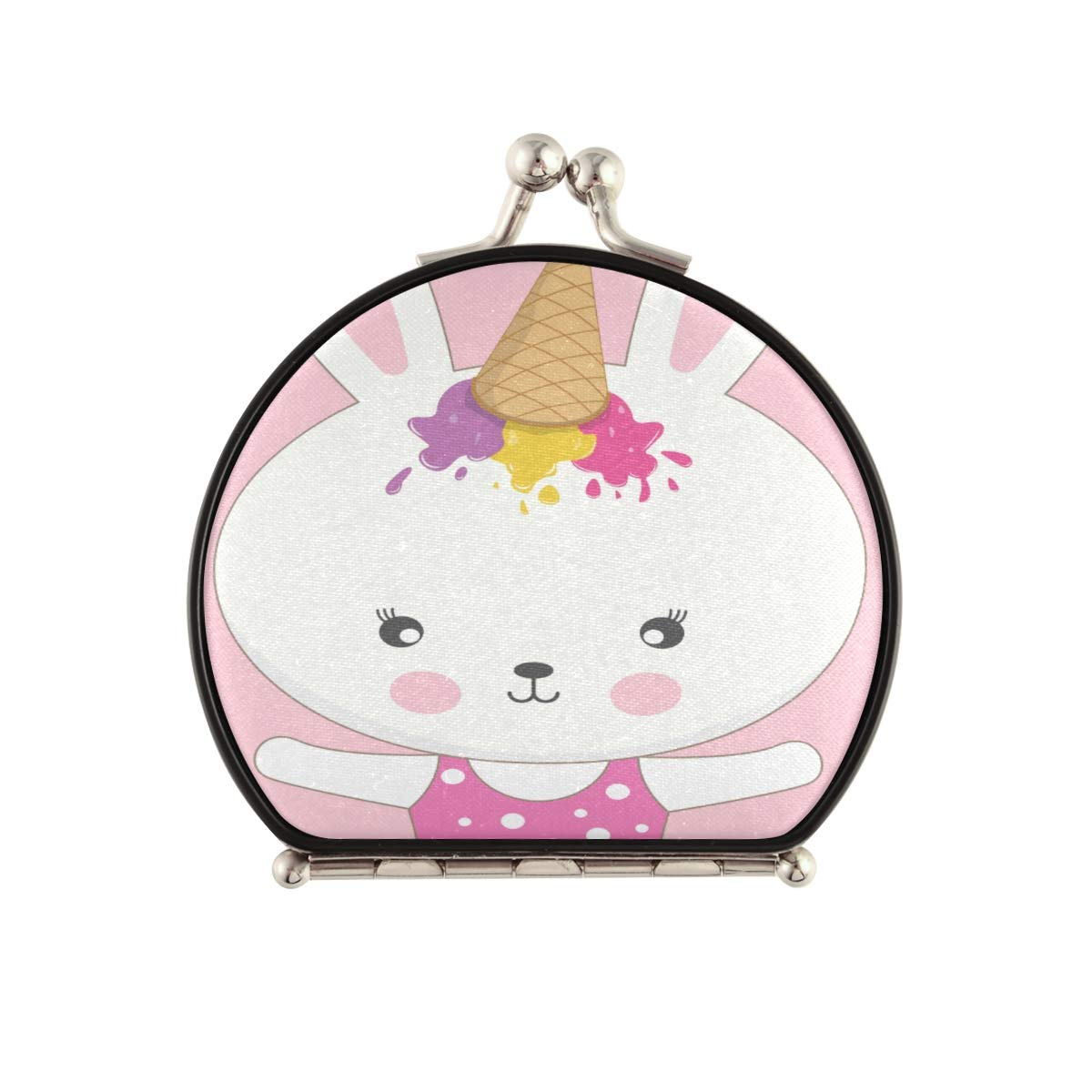 Magnifying Compact Cosmetic shipfree Mirror Adorable Year-end gift Ice Rabbit Beautiful
