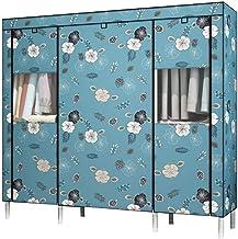Wardrobe Storage Cabinet Simple Wardrobe Steel Tube Cloth Wardrobe Dormitory Bedroom Portable Wardrobe Saves Space Clothin...