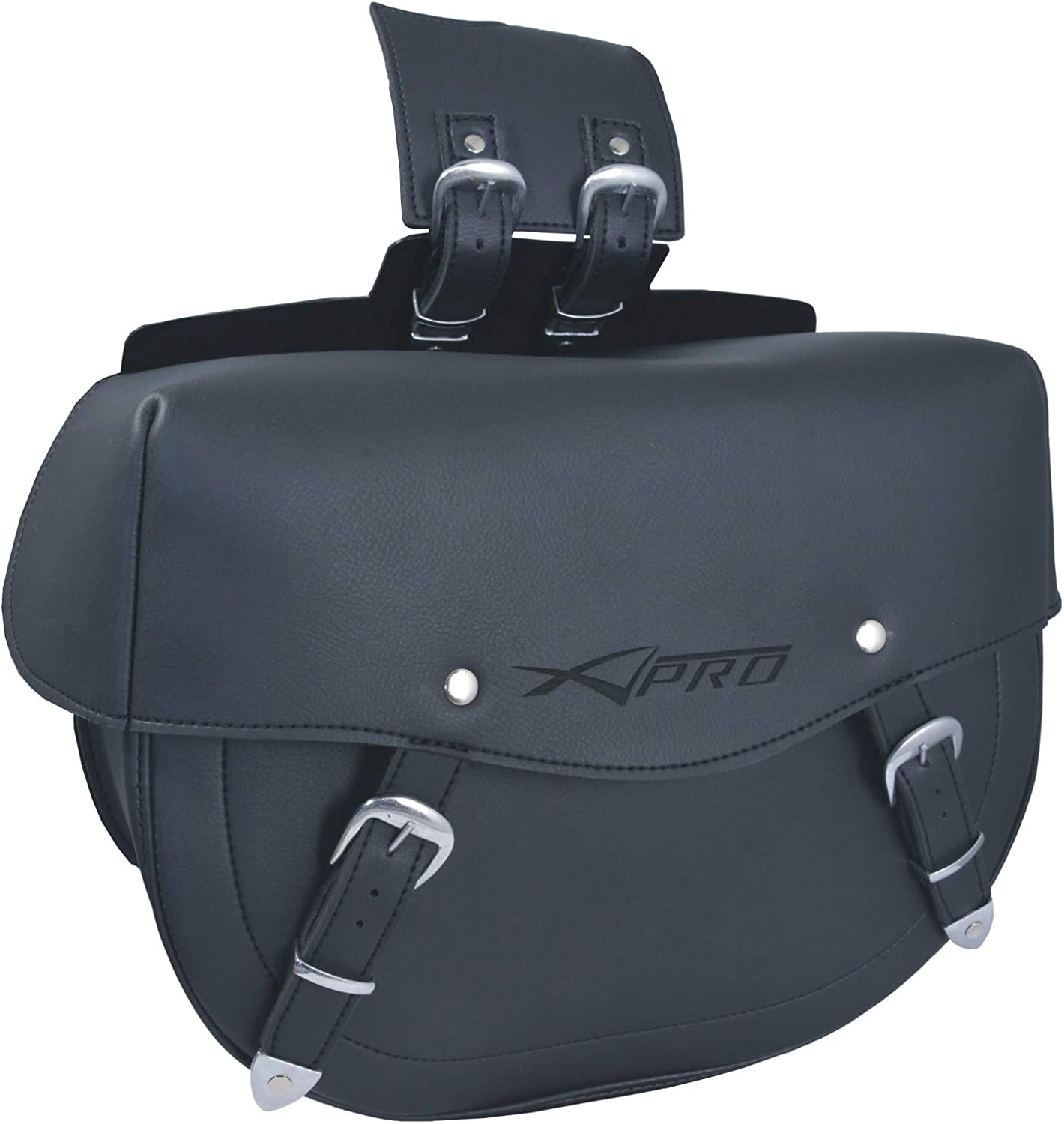 Side Bag Luggage sold out Saddle Bags Max 56% OFF Black Large Cruiser Motorcycle