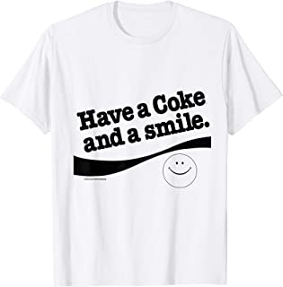 Coke And A Smile Happy Face Graphic T-Shirt