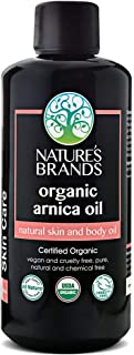 Organic Arnica Carrier Oil by Herbal Choice Mari (3.4 Fl Oz Glass Bottle) - No Toxic Synthetic Chemicals