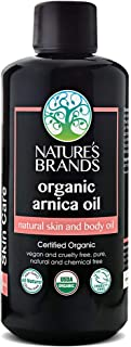 Organic Arnica Oil by Herbal Choice Mari; 3.4 fl oz Glass Bottle; For Pain Relief, Arthritis, Back Muscle, Shoulder, Neck, Knee, Elbow, Neuropathy, Nerves, Massager, Relieves Inflammation