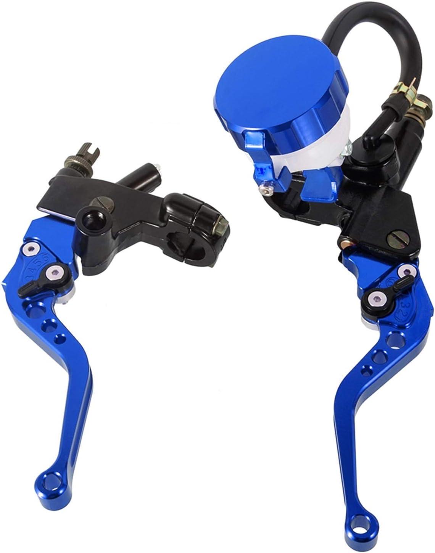 Hebel Hydraulik-Zylinder Haupt/öltank Bremshebel Kabelkupplungshebel-Kit f/ür 250CC Um 500CC Motorrad Bremse Farbe : Blau