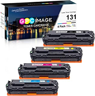 GPC Image Remanufactured Toner Cartridge Replacement for Canon 131 131H Toner to use with ImageClass MF8280Cw LBP7110Cw MF628Cw MF624Cw MF8230Cn Laser Printer (Black, Cyan, Magenta, Yellow, 4 Pack)