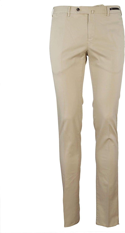 PT01 Men's DT01Z00CLATS990020 Beige Cotton Pants