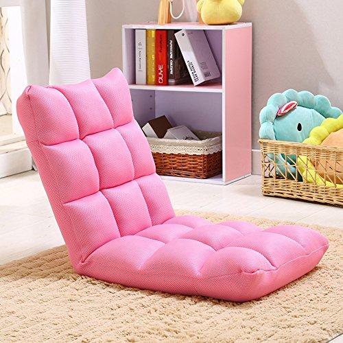 Fauteuils inclinables Feifei Réglable Pliant Paresseux Canapé 6-Position Repose-Pied Coussin Multiangle Canapé Lits pour Regarder TV/Gaming/Midday Rest/Nap Pliant (Couleur : Pink)