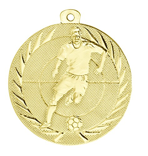 pokal-fabrik.de Kindermedaille BS75 Gold - Medaillen für Kinder/Kindergeburtstag Fußball