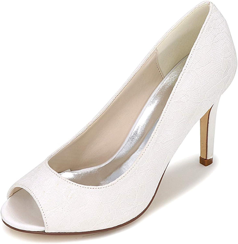 LLBubble Women Stiletto Heels Lace Wedding shoes Peep Toe Bridal Pumps Formal Party Dress shoes Y5623-12A