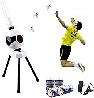 W&P Automatic Badminton Trainer,Badminton Robot Portable Outdoor Indoor Beginner Ball Pitching Practice Trainer Device for...