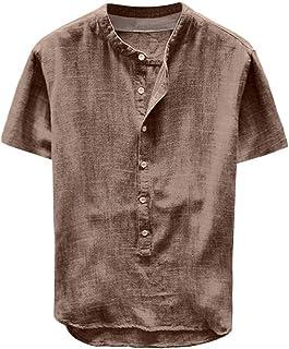 Men's Casual Button Down Cotton Shirts Summer Holiday Shirt Beachwear