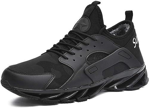 OPQZ Running zapatos Men's zapatos Korean Version of The Wild Casual Sports zapatos Men's Autumn and Winter Warm Thick Cotton zapatos