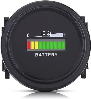 Qiilu 12V 24V 36V 48V 72V LED Digital Battery Indicator Meter Gauge Charge Status Monitor Compact Tester for Golf Carts Forklift Car Scooter Motorcycle 12-72 volt
