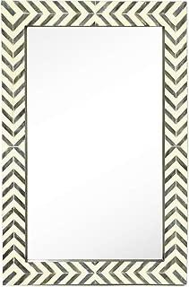Hamilton Hills Contemporary Herringbone Pattern Modern Wall Mirror (24