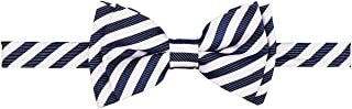 Striped Woven Microfiber Pre-tied Boy's Bow Tie - Various Colors