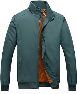 GOWINEU Mens Winter Military Jacket Thicken Fleece Lined Stand Collar Parka Outwear Coat