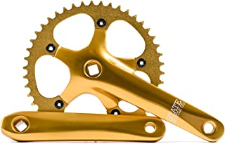 State Bicycle Co. Fixed Gear/Single Speed Bike Crankset, Lightweight Aluminum Alloy, 46T