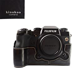 Fuji X-H1 Case  kinokoo Hand Grip Case for FUJIFILM X-H1 Bottom Case Leather  black