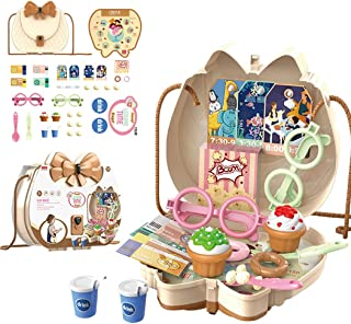 YHomU Kids Pretend Play Toy Set Funny Developmental Fun Makeup Toy with Shoulder Bag Toddlers Baby Education Development P...