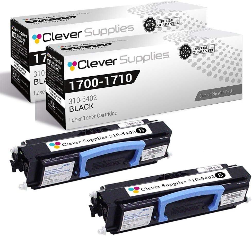 CS Compatible Drum Cartridge Replacement for for Dell 1700-D 310-5402 Black Laser 1700 Laser 1700n Laser 1710 Laser 1710n 2 Pack