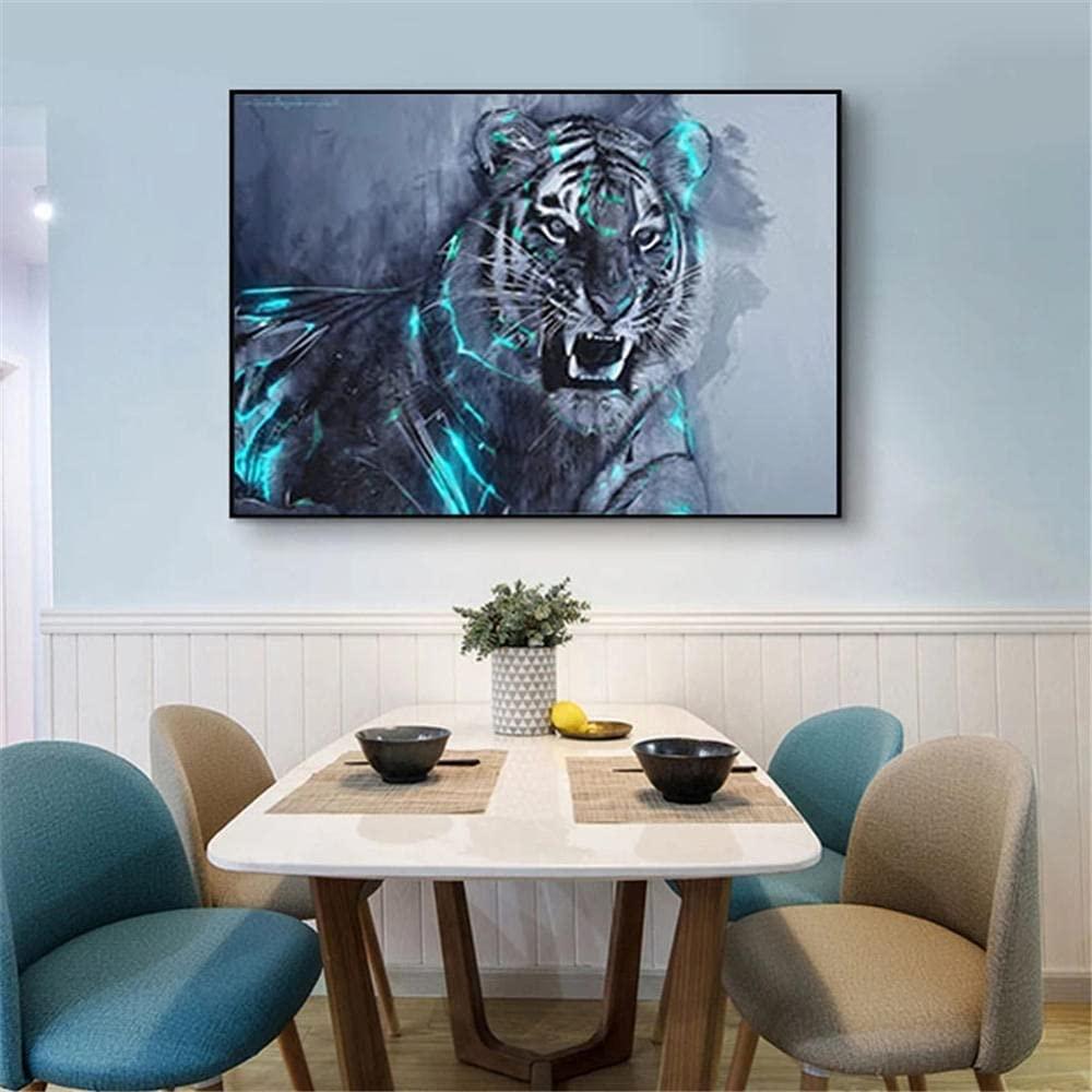 5D DIY Number Diamond Painting kit Inexpensive Full Discount mail order R Size Large Drill Tiger
