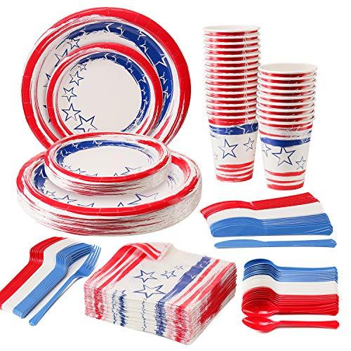 Disposable Patriotic Dinnerware Set, 4th of