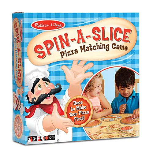 Melissa & Doug Spin-a-Slice Pizza Matching Game for Kids (72 pcs Plus Spinner)