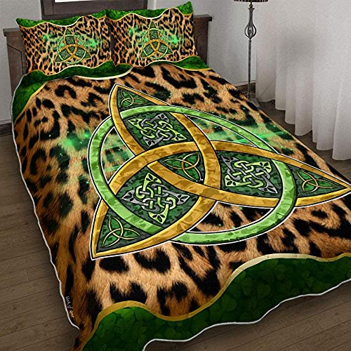 Trinity Knot Celtic Quilt Bedding Set Blanket Quilts with Pillowcase Cover Soft Comfortable for Kids Parents Us Twin Queen King Size