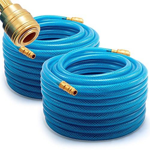 Deuba Druckluftschlauch 20m PVC Schnellkupplung 15 bar 1/4' Anschluss Druckschlauch Gewebeschlauch Kompressor