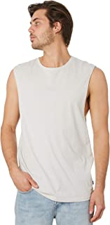 Silent Theory Men's Standard Mens Muscle Crew Neck Cotton White