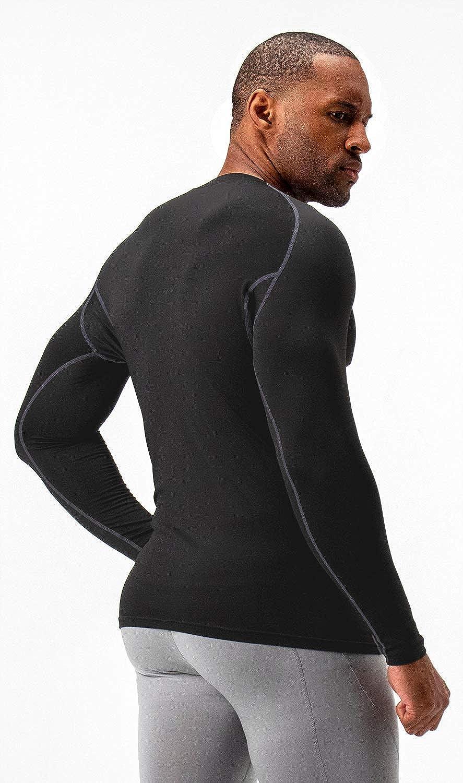 DEVOPS 2 Pack Mens Thermal Long Sleeve Compression Shirts