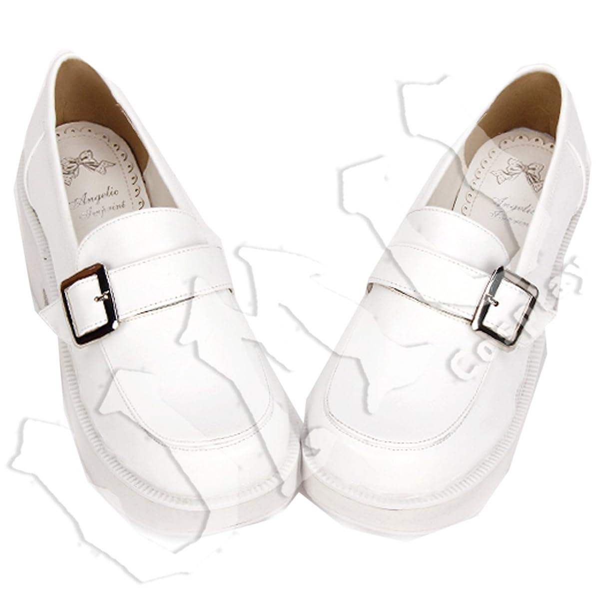非行コレクションハウジング【UMU】 LOLITA ロリータ 純白 万能 基本 風 靴 ブーツ ブーティ オーダーメイド(ヒール高、材質、靴色は変更可能!) (足23.5cm)