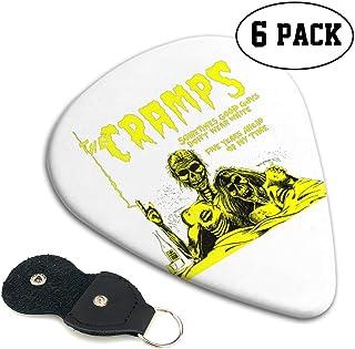 TONICKZILLA The Cramps ザ・クランプス ギターピック オシャレ ベース、カポタスト ギター、カポ アコースティックギター、ウクレレ、エレキギター用 ピック トライアングル 6枚セット プレゼント