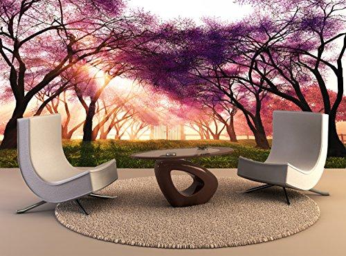 Behang Mural Cherry Blossoms Japanse Tuin Muur Art Decor Fotobehang Poster Hoge Kwaliteit Print