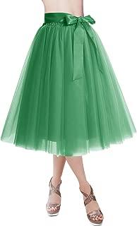 Knee Length Tulle Skirt Tutu Skirt Evening Party Gown Prom Formal Skirts