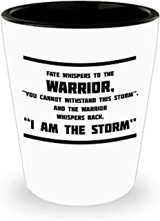 """Fate Whispers To The Warrior, """"You Cannot Withstand This Storm"""", And The Warrior Whispers Back, """"I Am The Storm"""" - Perfect Shot Glass For Army Veteran"""