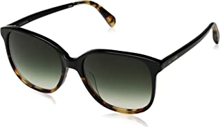 Toms 10014817 Womens Sandela Black Tortoise Frame Olive Lens Square Sunglasses