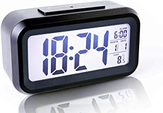 PANFREY Despertador Digital inalámbrico, Sensor Inteligente