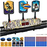 Moving Nerf Target for Shooting Practice, Nerf Gun Targets with 100 PCS Bullets and 3 Sets of Target Cards, Nerf Toys for 4 5 6 7 8 9+ Year Old Boys Gifts