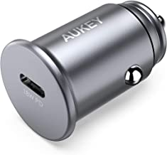 AUKEY USB C PD Flush Fit Car Charger, 18W Power Delivery USB Car Charger Compatible with Google Pixel 3/2 / XL, iPhone 11/11 Pro Max/XS/MAX/XR/X and More