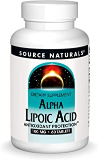 Source Naturals Alpha Lipoic Acid 100 mg Supports Healthy Sugar Metabolism, Liver Function & Energy Generation - 60 Tablets