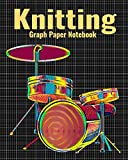 Knitting Graph Paper Notebook: 4:5 Ratio Knitter's Journal, With Colorful Drum Set Music Cover, 120 Pages, 8 x 10 inches / 20.3 x 25.4 cm