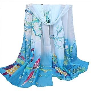 elegante pareo da donna in chiffon ultrasottile indossabile anche come sciarpa o scialle accessorio per proteggersi dal sole con fantasia a colori Lubier