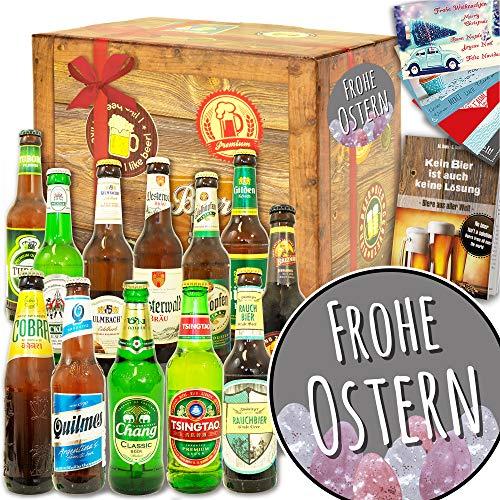 Frohe Ostern/Geschenke zu Ostern Erwachsene / 12x Bier aus der Welt und DE