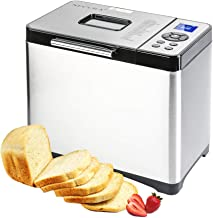 Secura Bread Maker Machine 2.2lb Stainless Steel Toaster Makers 650W Multi-Use Programmable 19 Menu Settings for Home Bake...