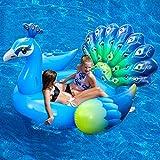 iBaseToy Giant Inflatable Peacock Pool Float
